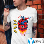 barbed wire heart trippy surreal teeshirts