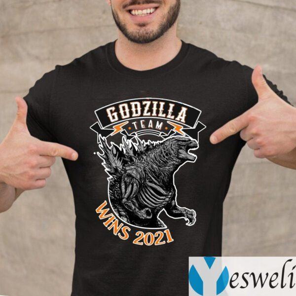 team godzilla wins 2021 teeshirts