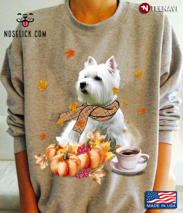 Pumpkin Thanksgiving Yorkshire For Dog Lovers Drink Coffee