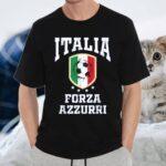 Forza Azzurri Jersey Football 2021 2020 National Team Italia T-Shirt