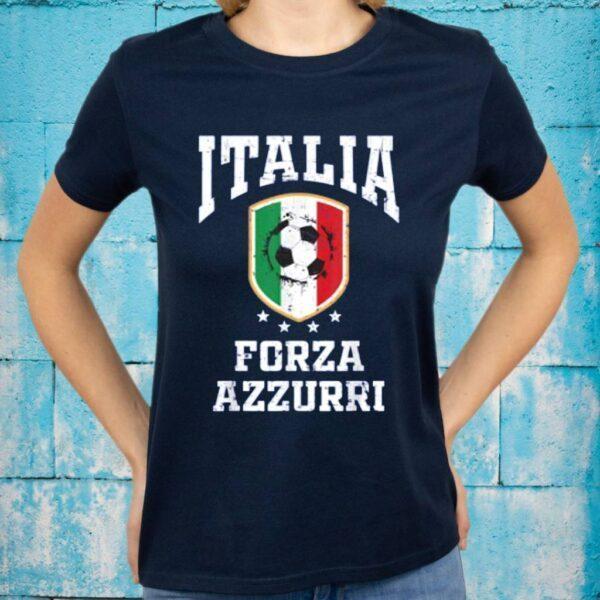 Forza Azzurri Jersey Football 2021 2020 National Team Italia T-Shirts