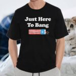 Fourth of July 4th of July I'm Just Here To Bang T-Shirt