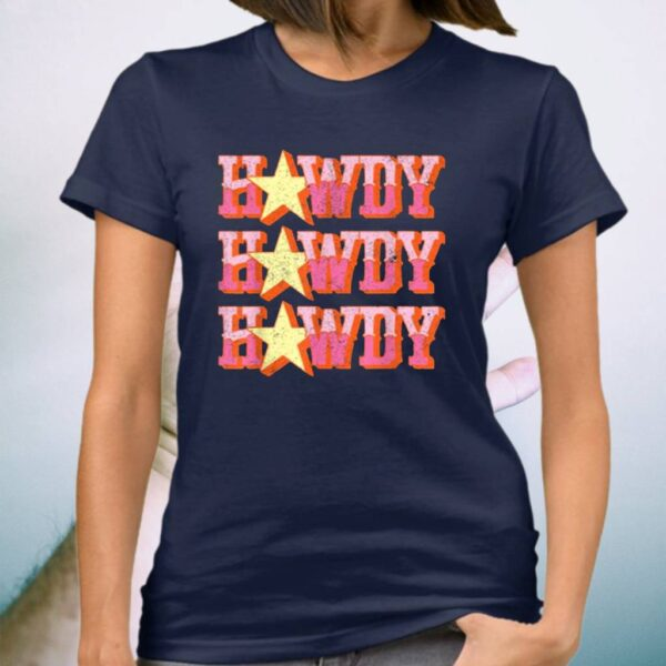 Howdy Rodeo Western Retro Vintage Country Southern T-Shirt
