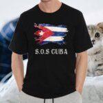Sos Cuba Flag Cuba Cuban Flag Shirts