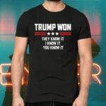 Trump Won They Know It I Know It You Know It Tee-Shirt