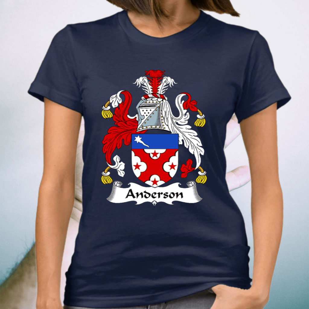 Anderson Coat Of Arms Family Crest Shirts