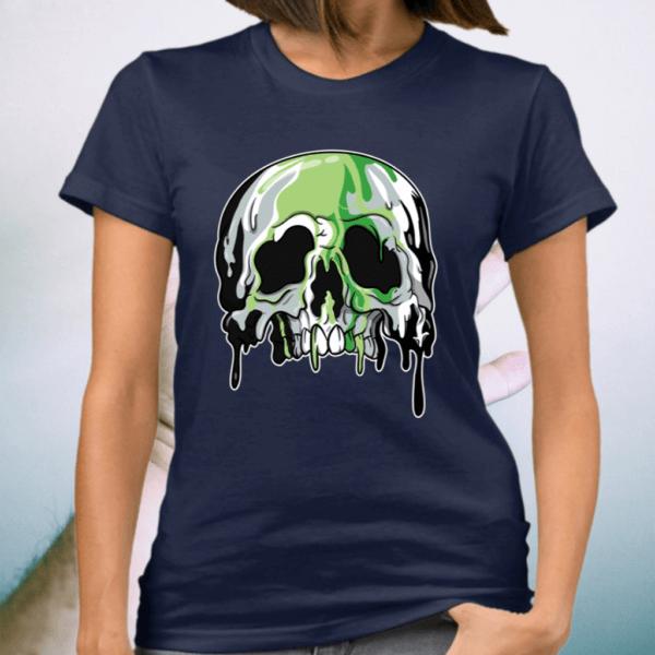 Aromantic Lgbtq Candle Sugar Skull Shirt
