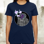 Astronaut Blowing Bubbles Funny Spaceman Galaxy Gift Tee Shirts