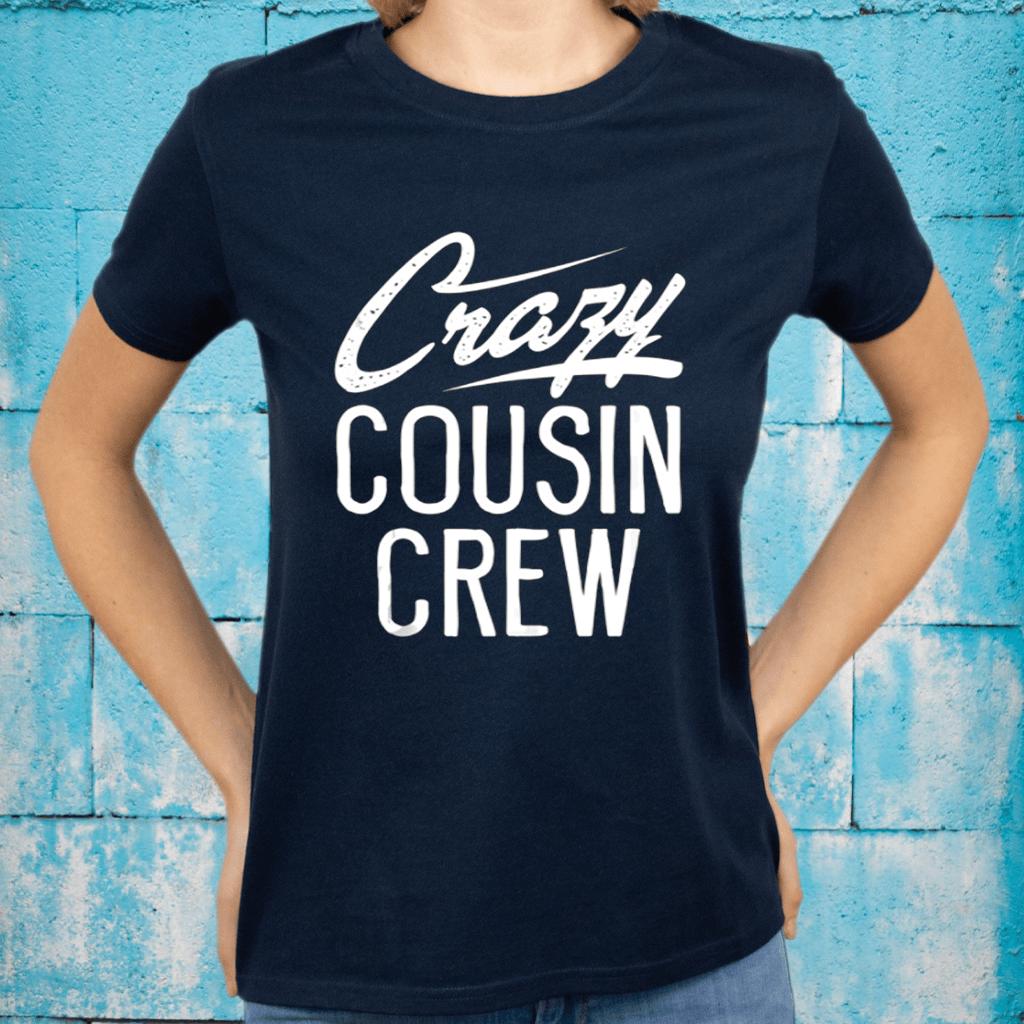 Crazy Cousin Crew Christmas Family TShirt