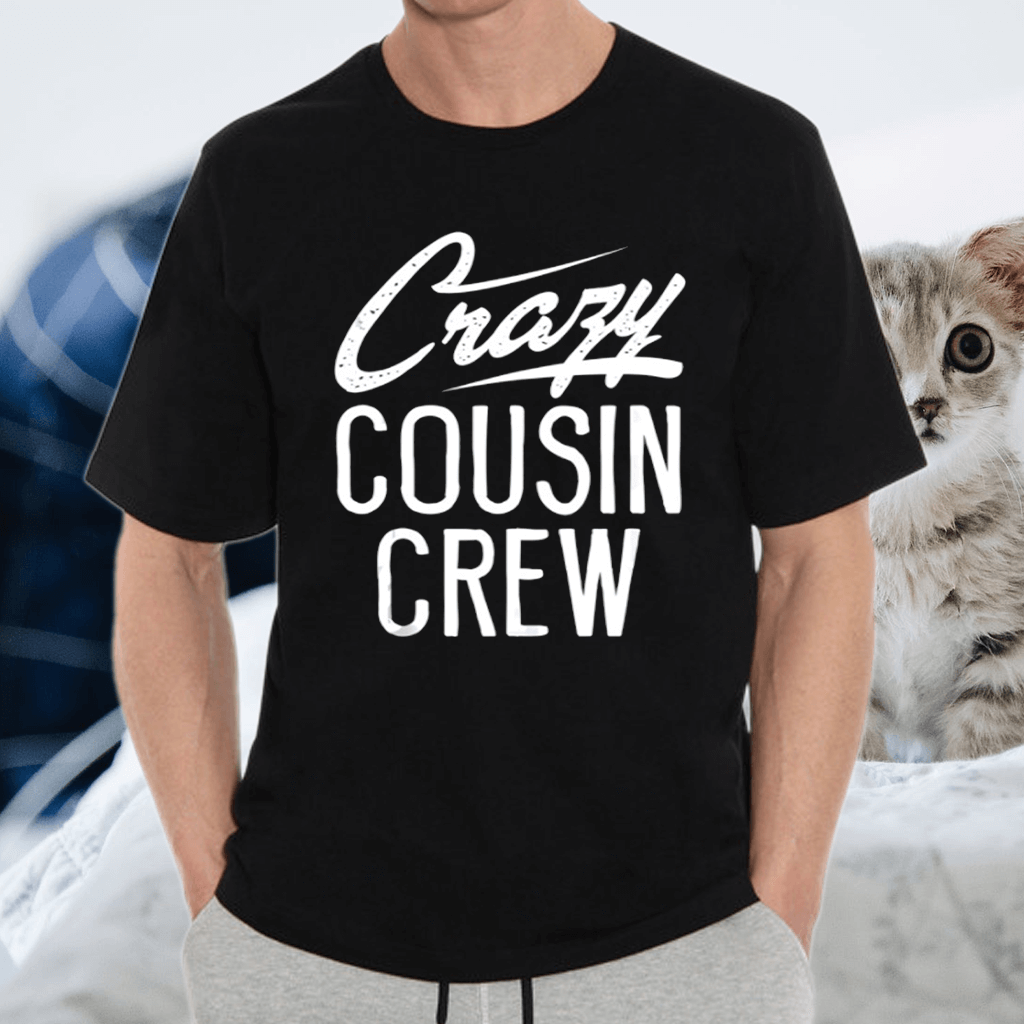 Crazy Cousin Crew Christmas Family TShirts