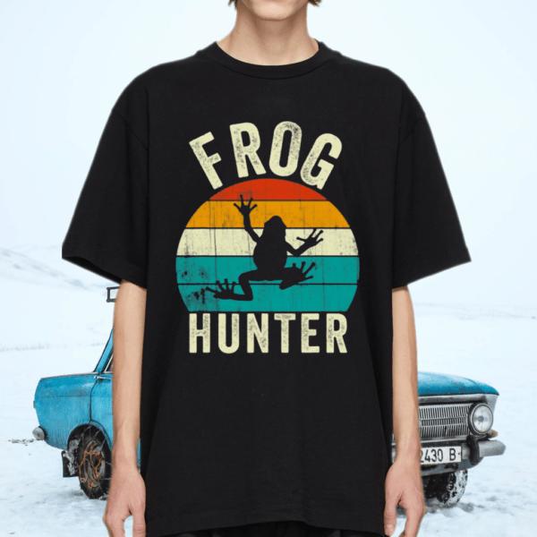 Frog Hunter Vintage Frogs Catcher TShirt