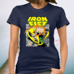 Marvel Iron Fist Retro Comic Panel Art Punch Graphic TeeShirts