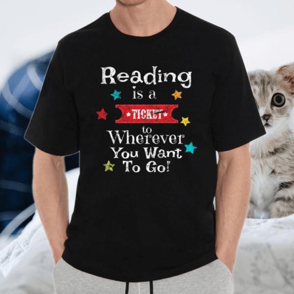 Reading Teachers Students Vintage Book Reading TShirt