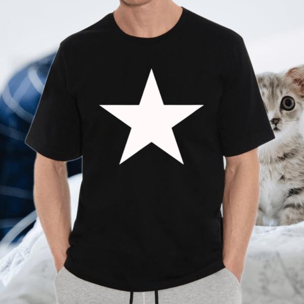 White Snow Star On Multiple TShirts