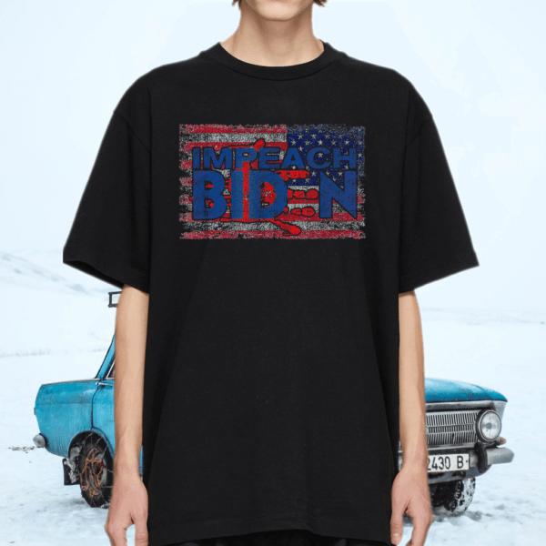 Biden Blood On His Hands USA Flag 2021 TShirt