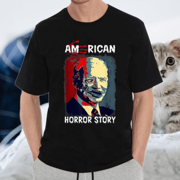 Biden Horror American Zombie Story Halloween Retro Vintage T Shirt