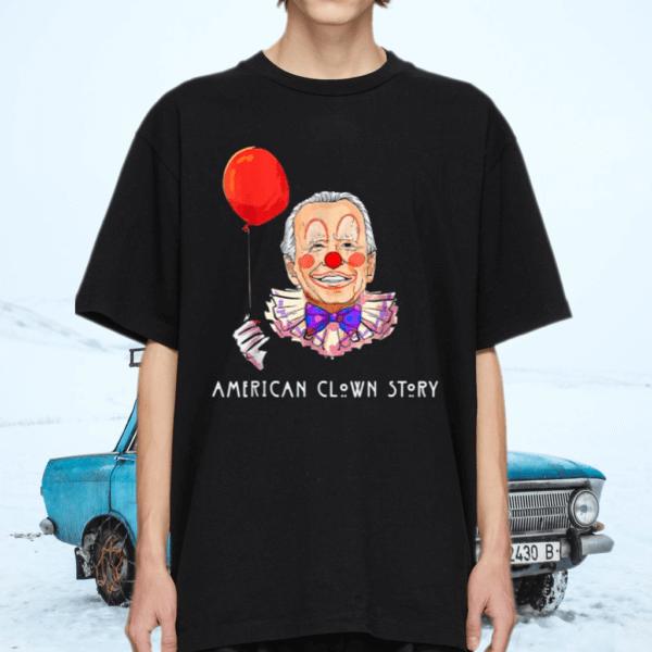 Joe Biden Horror American Clown Story Halloween Costume T-Shirt