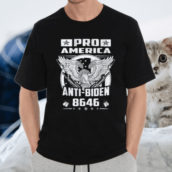 Pro America Anti-Biden 8646 Freedom Eagle Political Humor T-Shirt