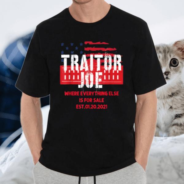 Traitor Joe's Funny Sleepy Joe Anti-Biden T-Shirt