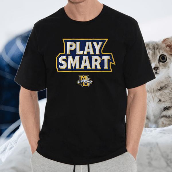 marquette play smart tshirt